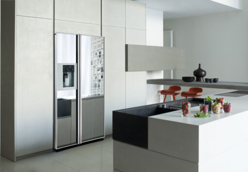 Einbau Edelstahl Kühlschrank